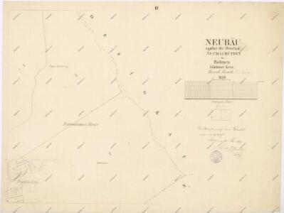 Katastrální mapa obce Novosedly