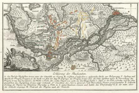 Plan der Bataille welche zwischen der Kaysl. Russischen u. König. Preuss. Armeen den 25. Aug. 1758 bey Zorndorf in der neuen Markt Brandenburg vorgefallen