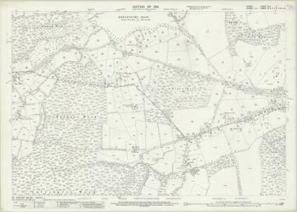 Surrey XLII.11 (includes: East Grinstead; Godstone; Horne; Worth) - 25 Inch Map