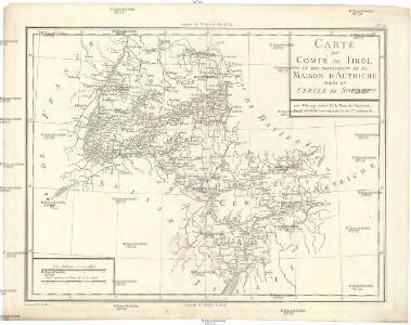 Carte du comté de Tirol et des possessions de la maison d'Autriche dans le cercle de Souabe