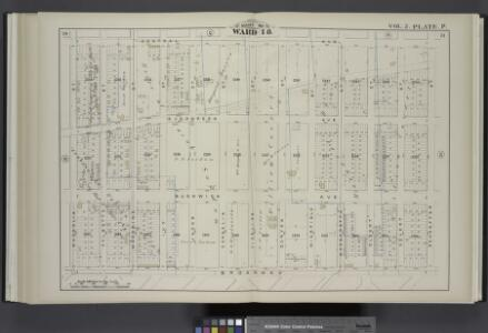 Vol. 2. Plate, P. [Map bound by Central Ave., Schaeffer St., Broadway, Magnolia St.; Including Evergreen Ave., Bushwick Ave., Palmetto St., Woodbine St., Ivy St., Jacob St., Cornelia St., Vigelius St., Duryea St., Wierfield St., Margaretta St., Eldert St