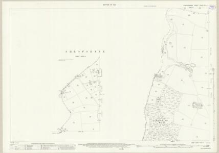 Staffordshire XXVIII.15 (inset XXVIII.11) (includes: Adbaston; Cheswardine; Eccleshall) - 25 Inch Map
