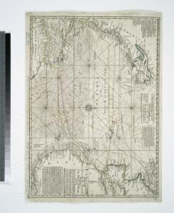 A new chart of the vast Atlantic Ocean: exhibiting the seat of war, both in Europe and America, likewise the trade winds & course of sailing from one continent to the other, with the banks, shoals and rocks drawn according to the latest discoveries, and regulated by astronomical observations / Emanl. Bowen, sculp.