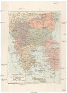 Gegenwärtig Stand der neuen politischen Grenzen auf der Balkan-Halbinsel