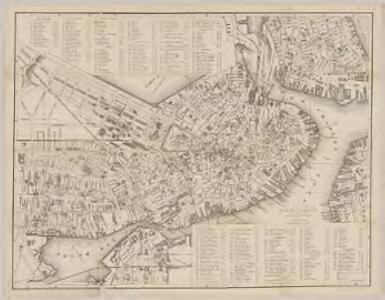 New map of Boston : with squares and numbers after the Baedeker plan
