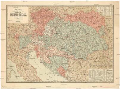 Šolcova nejnovější politická a železniční cestovní mapa Rakousko-Uherska
