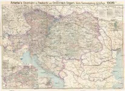 Artaria's Eisenbahn- u. Postkarte von Oesterreich-Ungarn