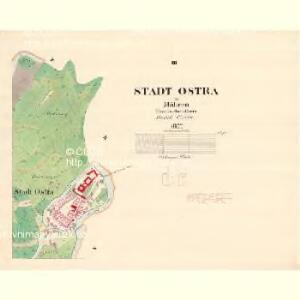 Ostra - m3198-1-003 - Kaiserpflichtexemplar der Landkarten des stabilen Katasters