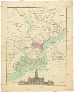 Plan of the city and environs of Philadelphia