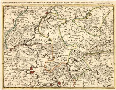 Carte particuliere des environs de Philippeville, Charlemont, Marienbourg, Rocroy, Charleville, Mezieres, Sedan