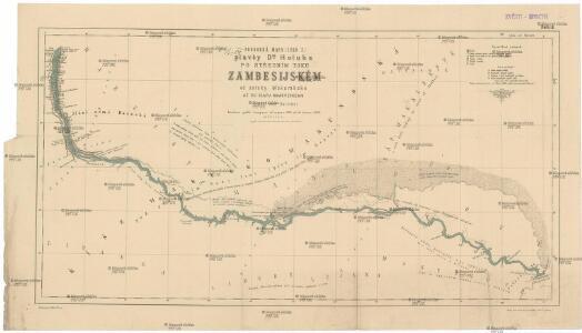 Podrobná mapa plavby Dr. Holuba po středním toku Zambesijském od zátoky Makubské až ku slapu Nambveskému v jižní zemi Barocké