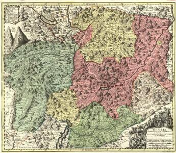 Rhaetia Foederata cum Confinibus et Subditis suis Valle Telina, Comitatu Clavennensi et Bormiensi, recenter et accuratißimé delineata
