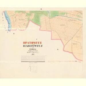 Hartowitz - c2344-1-004 - Kaiserpflichtexemplar der Landkarten des stabilen Katasters