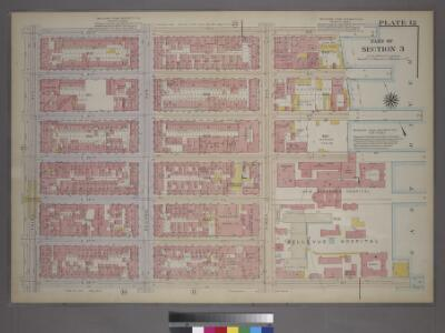 Plate 12, Part of Section 3: [Bounded by E. 32nd Street, First Avenue, E. 26th Street and Second Avenue.]