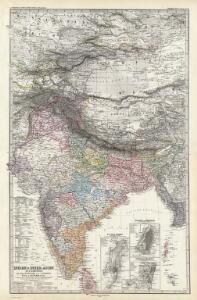 Composite: Indien, Inner-Asien in 2 Blattern.