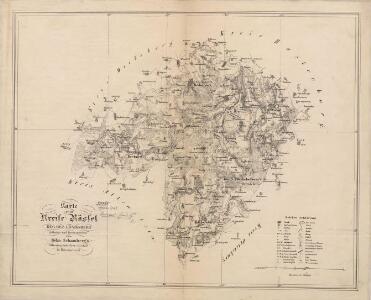Karte vom Kreise Rössel, Reg. Bez. Königsberg