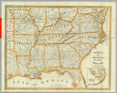 Perrine's New Topographical War Map Of The Southern States.