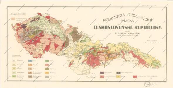 Přehledná geologická mapa Československé republiky