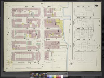 Manhattan, V. 4, Double Page Plate No. 79 [Map bounded by East 47th St., East River, East 42nd St., 2nd Ave.]