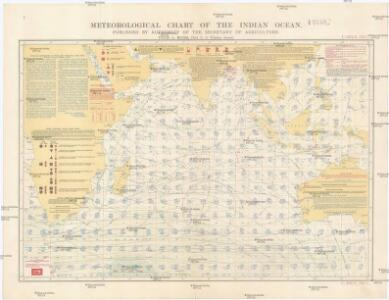 Meteorological chart of the Indian Ocean