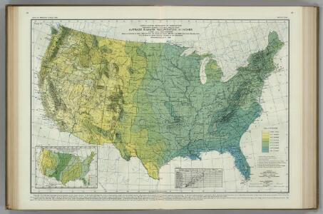 Average Summer Precipitation, in Inches.  Atlas of American Agriculture.