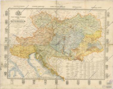 Völker-, Telegrafen- und Eisenbahn- Karte des Keiserthumes Öesterreich