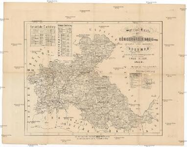 Special-Karte des Königgrätzer Kreis, resp. politischen Verwaltungsbezirkes in Boehmen