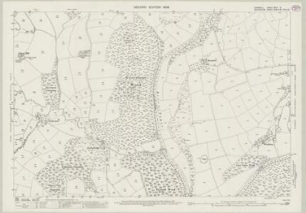 Cornwall XXIII.2 (includes: Dunterton; Lezant) - 25 Inch Map