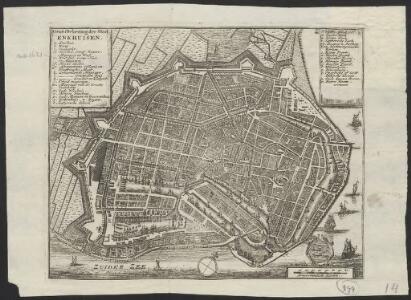 Grondtekening der stad Enkhuisen.