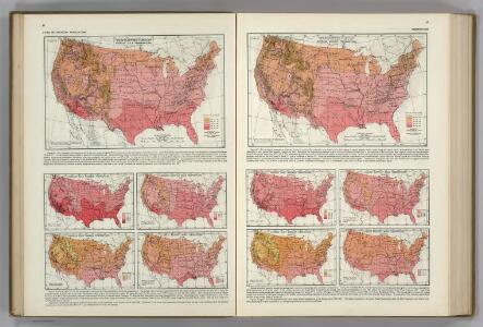 Monthly Temperature Maps:  July.  August.  Atlas of American Agriculture.