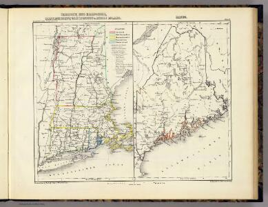 Vermont, New Hampshire, Massachusetts, Connecticut u. Rhode Island. Maine.