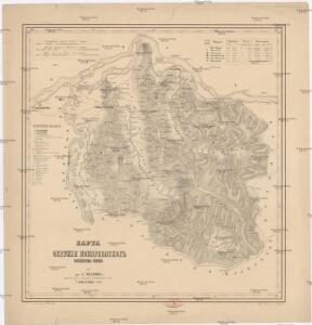 Karta okružija Požarevačkog kiježestva Serbije
