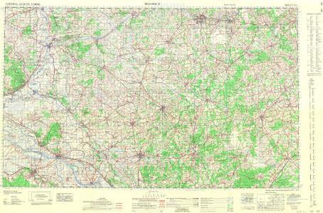 Central Europe 1:1,000,000, Bocholt