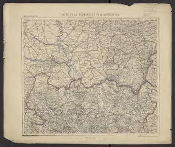 Carte de la Roumanie et pays limitrophes. Belgrade