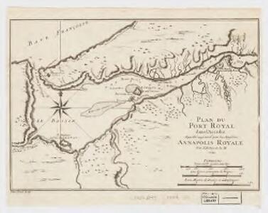 Plan du Port Royal dans l'Accadie : appellé aujourd par les Anglois Annapolis Royal