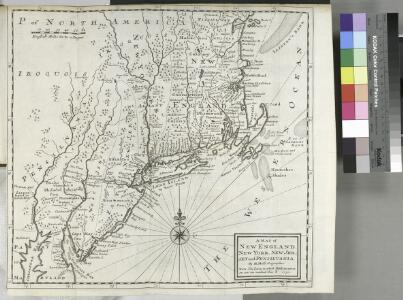 A map of New England, New York, New Jersey and Pensilvania / by H. Moll geographer.