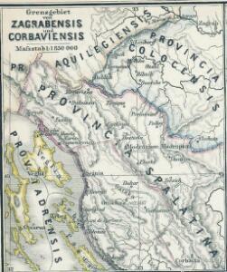 Grenzgebiet von Zagrabiensis und Corbaviensis