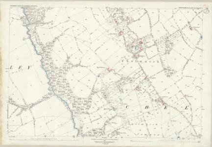 Shropshire LXVI.8 (includes: Chelmarsh; Deuxhill; Glazeley) - 25 Inch Map