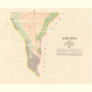 Zdenitz - c9213-1-002 - Kaiserpflichtexemplar der Landkarten des stabilen Katasters