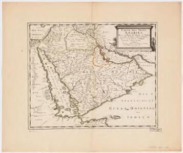 Carte des trois Arabies : tirée en partie de l'Arabe de Nubie, en partie de diuers autres autheurs