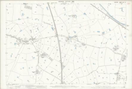 Cheshire XLVII.10 (includes: Golborne Bellow; Hatton; Huxley; Newton by Tattenhall; Tattenhall) - 25 Inch Map