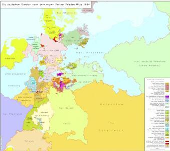 Die deutschen Staaten nach dem ersten Pariser Frieden Mitte 1814
