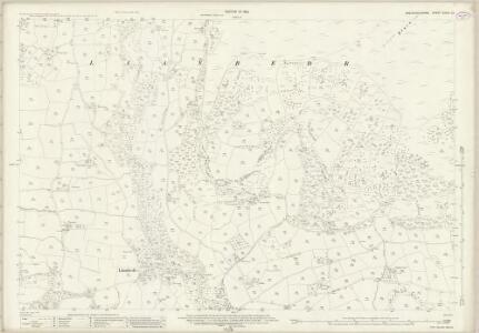 Brecknockshire XXXVI.13 (includes: Llanbedr Ystrad Yw) - 25 Inch Map