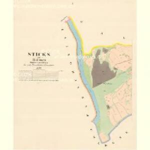 Sticks - c7767-1-001 - Kaiserpflichtexemplar der Landkarten des stabilen Katasters