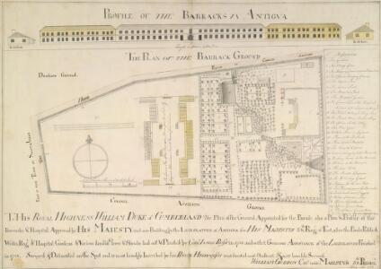 PROFILE OF THE BARRACKS IN ANTIGUA and PLAN OF THE BARRACK GROUND(003KTOP00000123U08500000)