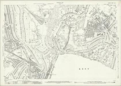 London (1915- Numbered sheets) XIII.3 (includes: Beckenham; Camberwell; Lambeth St Mary; Lewisham; Penge) - 25 Inch Map
