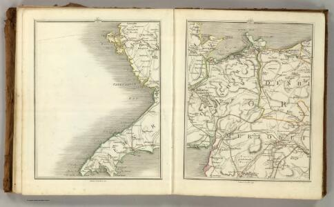 Sheets 38-39.  (Cary's England, Wales, and Scotland).