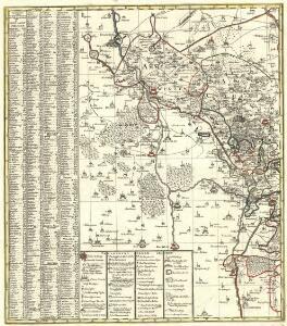 Circuli Misnici Praefecturae Quatuor cum Nossensio Schazensi Wurcena geographica et topographica accuratione plenissime
