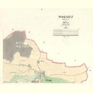 Wognitz (Wognice) - c8735-1-002 - Kaiserpflichtexemplar der Landkarten des stabilen Katasters