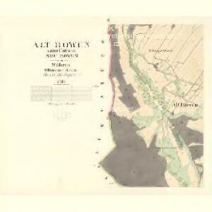 Alt Rowen - m2840-1-002 - Kaiserpflichtexemplar der Landkarten des stabilen Katasters